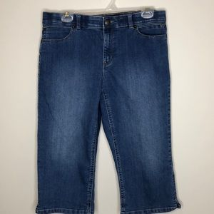 REITMANS blue mid-Rise stretch cropped jeans 13